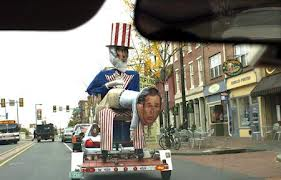 Almost Celebratory Uncle Sam Effigy